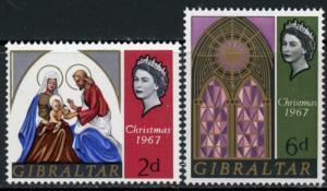 Gibraltar #203-4 Christmas: ~ (7346)