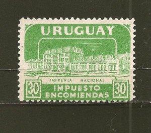 Uruguay Q91 Parcel Post Used
