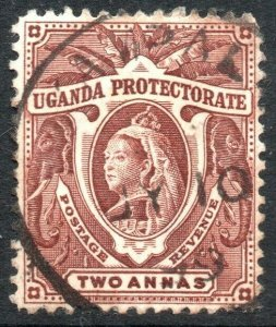 UGANDA-1898-1902 2a Red-Brown Sg 86 FINE USED V41894