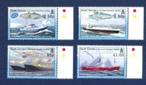 SOUTH GEORGIA - # 363-366 - MNH - Marine Life, Fish, Bird, Ship - 2008