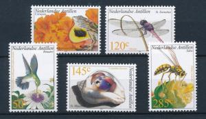 [NA1381] Netherlands Antilles Antillen 2002 Fauna Animals MNH # 1381-85