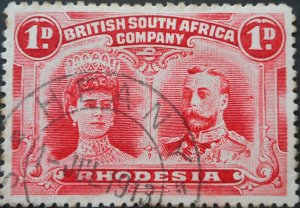 Rhodesia Double Head One Penny with HEANY (DC) postmark