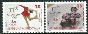 267 - MACEDONIA 2018 - Winter Olympic Games -PyeongChang -South Korea - MNH Set