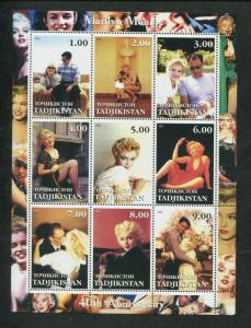 Tajikistan Commemorative Souvenir Stamp Sheet - Marilyn Monroe 40th Anniversary