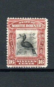 North Borneo 1909-23 16c Rhinoceros Hornbill MH