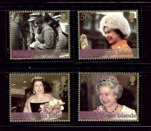 Virgin Is 967-70 MNH 2002 QEII 50th Anniv of Reign