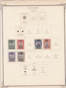 salvador stamps page ref 17175