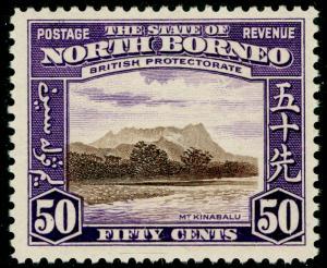 NORTH BORNEO SG314, 50c chocolate & violet, LH MINT. Cat £48.