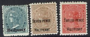 NEW SOUTH WALES 1891 QV SURCHARGE SET