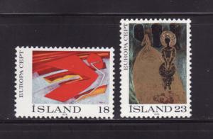 Iceland 478-479 Set MH Europa, Art (A)