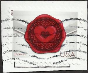 # 4741 USED ENVELOPE WITH WAX SEAL