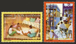 French Polynesia 866-867, MNH. Scenes from everyday life, 2004