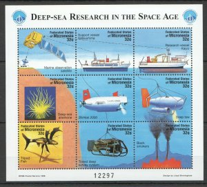 PK361 1998 MICRONESIA DEEP-SEA RESEARCH IN THE SPACE AGE SH MNH STAMPS