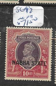 INDIA  NABHA   (PP2905B)  KGVI  10R    SG 92     MNH