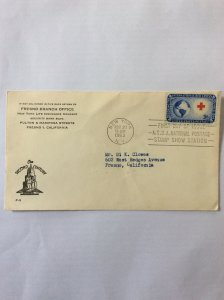 1952 Red Cross 3c First day cover. New York post mark to Fresno.