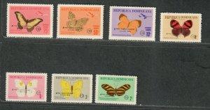 Dominican Republic Sc#B48-B51, CB28-CB30 M, Butterflies, Cv. $47.50