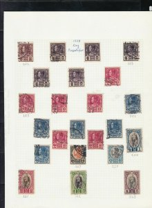 thailand stamps page ref 16899