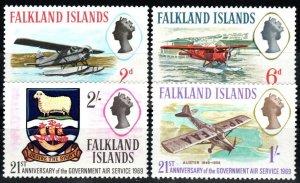 Falkland Islands #180-83 MNH CV $2.95