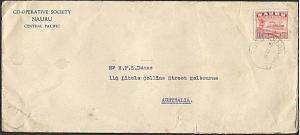 NAURU 1938 1½d freighter on commercial cover to Melbourne..................37875