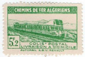 (I.B) France Colonial Railway : Algeria Chemins de Fer 5.2F (Inland)