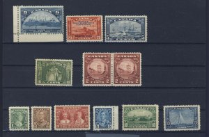 12x Canada Mint Stamps #202-203-204-209-210 Pr 211 to 216 Guide Value = $156.00