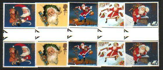 Great Britain Sc 1776-0 1997 Christmas gutter pairs NH