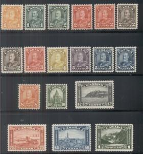 CANADA #162-77 Complete set incl. 165a, 166b, og, NH, VF, Scott $1,042.75