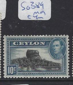 CEYLON (P1909B) KGVI 10C     SG 389     MOG