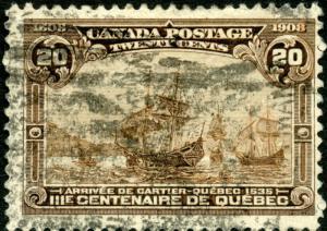 CANADA #103 USED 20¢ POSTAGE VF CV $175 BN2065