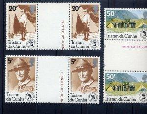 1982 Scouts Tristan da Cunha 75th anniv gutter pr