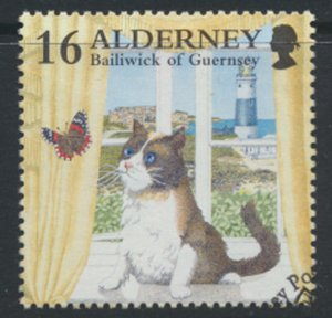 Alderney  SG A89  SC# 92  Cats   Used First Day Cancel - as per scan