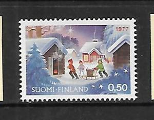 FINLAND, 603,  MINT HINGED, CHRISTMAS