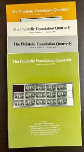 The Philatelic Foundation Quarterly 4 Issues Spring/Winter 1991, No. 1 1992