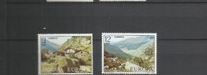 ANDORRA 1977 EUROPA SCOTT 98-9 MNH