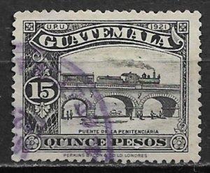 1926 Guatemala 229 Train on La Penitenciaria Bridge 15p used