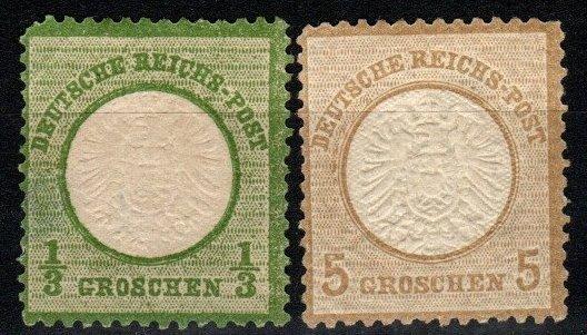 Germany #15, 20  Unused CV $60.00 (X8380)