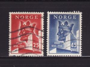 Norway 305-306 U King Harald Haardraade (A)