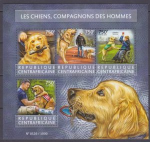2015 Central African Republic 5590-5593KL Dogs helpers 14,00 €