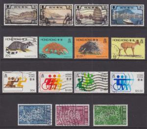 Hong Kong Sc 380/410 used 1982-1983 issues, 4 cplt sets