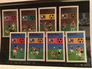 Holy Island Scotland football mint never hinged stamps  R21891