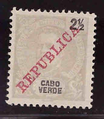Cabo Verde Cape Verde Scott 85 MH* King Carlos Republica 1905 set