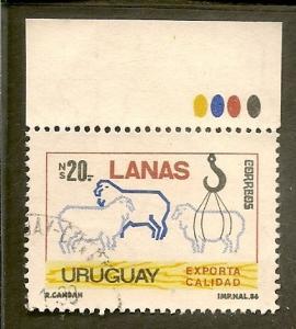 Uruguay    Scott 1224   Wool Export   Used