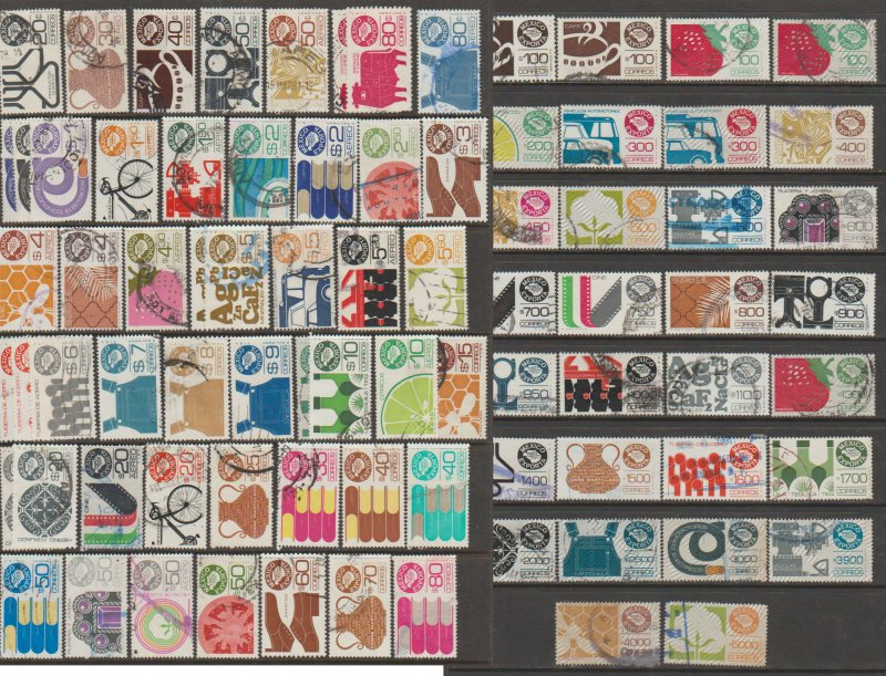 MEXICO GROUP OF 80 EXPORTAS USED, NOT CLASSIFIED. F-VF.