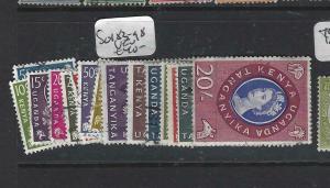 KENYA, UGANDA, TANGANYIKA  (PP3005B)  QEII SET  SG 183-198    VFU