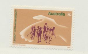 Australia Scott #581, Mint Never Hinged MNH, Hand Protecting Playing Children...