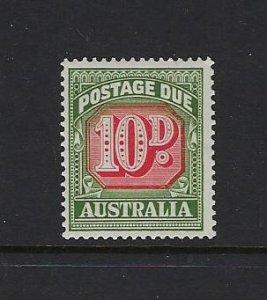AUSTRALIA SCOTT #J93 1958-60 POSTAGE DUES 10D  - MINT NEVER HINGED