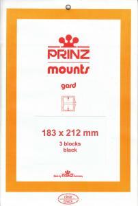 PRINZ BLACK MOUNTS 183X212 (3) RETAIL PRICE $10.50