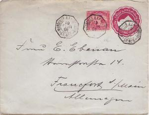 Egypt 5m Sphinx and Pyramid on 5m Sphinx and Pyramid Envelope 1891 Marseille ...