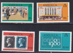 Anguilla # 371-374, Lond 80 Philatelic Exhibition, NH, 1/2 Cat.