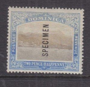 DOMINICA, 1905 CC, 2 1/2d. Grey & Blue, SPECIMEN, lhm.